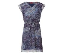 Kleid aus Chiffon mit floralem Muster