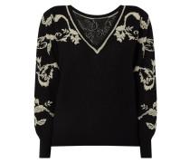 Pullover mit floralem Muster aus Effektgarn
