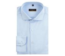 Slim Fit Business-Hemd aus Twill - blickdicht