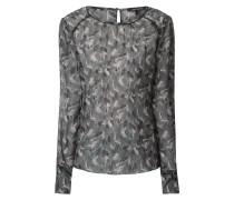 Blusenshirt mit Camouflage-Muster