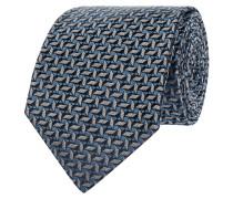 Krawatte aus Seide mit grafischem Webmuster