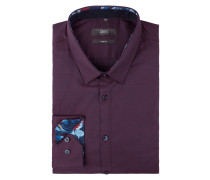 Super Slim Fit Business-Hemd mit Kentkragen