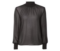 Blusenshirt aus Chiffon mit gesmoktem Kragen