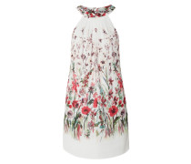 Kleid aus Krepp mit floralem Muster