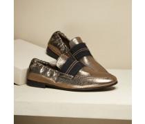 Loafer aus glasiertem Leder