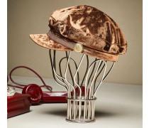 Mütze aus Biber-Samt mit Monili