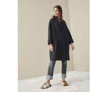 Mantel aus Doppelgewebe in Wolle und Kaschmir