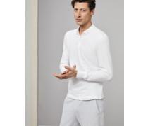 Polo Slim Fit aus Baumwollpikee langen Ärmeln