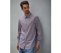 Hemd Basic Fit aus Twill in zweifarbigem Karo