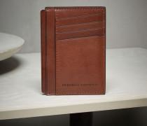 Kartenhalter aus glänzendem Kalbleder