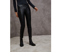 Pull-up-Legginghose aus Nappaleder mit Stretch