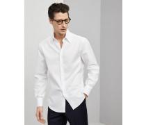 Hemd Slim Fit aus Giza-Baumwolle in Twillbindung