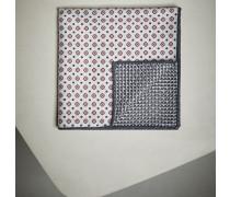 Einstecktuch aus Seide mit Doubleface-Muster