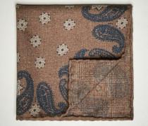 Einstecktuch aus Wollflanell mit Paisley-Muster