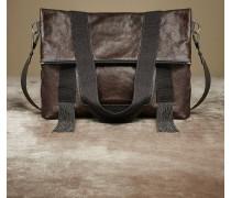 Foldover-Shopper aus Minimal-Leder