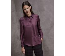 Bluse aus Seidentwill mit Shiny Stitch