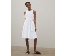 Kleid aus plissierter Techno-Baumwollpopeline