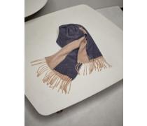 Schal mit Fransen aus Kaschmir-Doubleface
