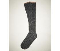 Socken in Tweed-Optik