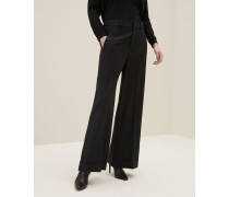 """Hose """"Cropped Flare"""" aus Tropical Luxury-Wolle"""