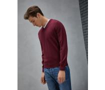 Pullover mit V-Ausschnitt aus Kaschmir