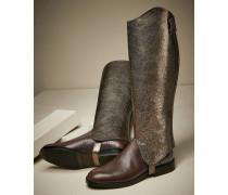 Stiefel aus glasiertem Leder