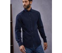 Hemd Slim Fit aus Feincord in Stückfärbung
