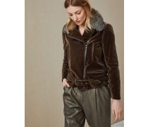 Jacke aus Baumwollsamt