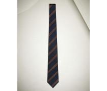 Krawatte aus Seide mit Diagonalstreifen