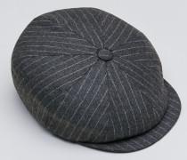 Mütze aus Nadelstreifenflanell in Schurwolle