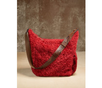 Tasche aus Shearling in Frosty Effect