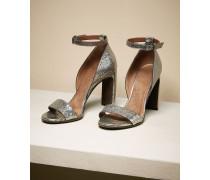 High Heels aus glasiertem Leder
