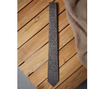 Krawatte aus Leinen und Seide mit Punkten