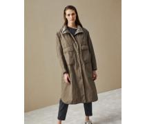 Mantel aus leichtem Taft mit Shiny Stitch