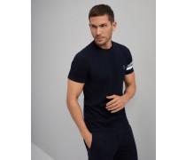 Rundhals-T-Shirt Slim Fit aus Baumwolljersey