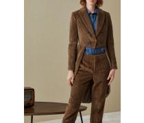 Jacke im Cutaway-Stil aus Breitcord mit Monili