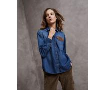 Bluse aus leichtem Baumwolldenim