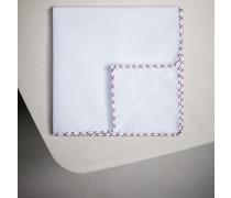 Einstecktuch aus Baumwolle mit Stickerei