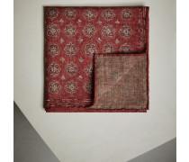 Einstecktuch aus Wollflanell mit floralem Muster