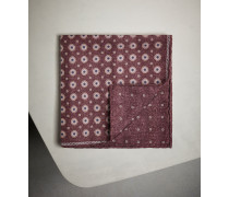 Einstecktuch aus Seide mit floralem Muster