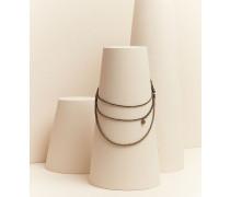 Halskette aus 925 Sterlingsilber und Spinell