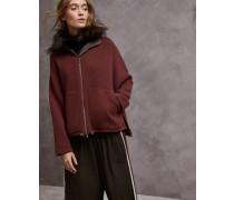 Jacke aus doppeltem Strick aus Kaschmir