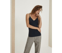 Top aus Stretch-Baumwolljersey mit Shiny Strap