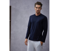 Langärmeliges T-Shirt Slim-Fit aus Jersey