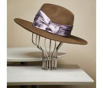 Borsalino aus Kaschmirfilz mit Hutband aus Samt