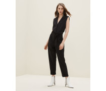 Jumpsuit aus Tropical Luxury-Wolle mit Shiny Trim