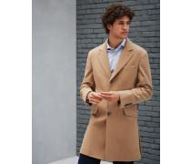 Mantel mit Spiegelrevers in Köperbindung aus Wolle und Kaschmir