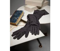 Lange Handschuhe aus Veloursleder