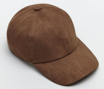 Baseball-Mütze aus leichtem Veloursleder