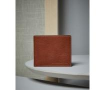 Langes Portemonnaie aus genarbtem Kalbsleder